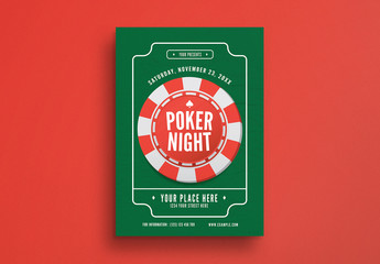 Poker Night Flyer Layout