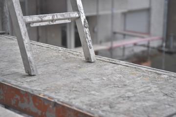 Construction Site - framework - planks and ladder