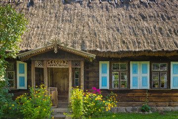 Old village house. Podlasie, Poland.