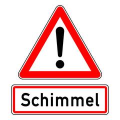 ncsc57 NewCombinationSignCaution ncsc - Achtung - Ausrufezeichen / dreieckig - german text: Schimmel (Giftige Schimmelpilze) - g6658