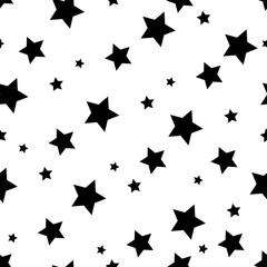 star seamless pattern background, black star wallpaper design