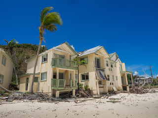 Hurricane IRMA destroyed condos on Tortola, BVI in Sept.2017