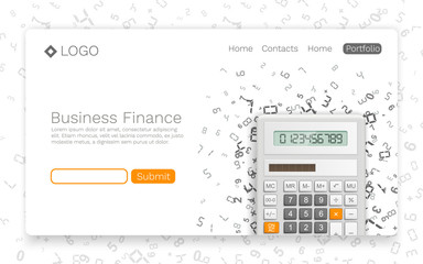 Business Finance banner info cover. Landing page concept. Vector illustration