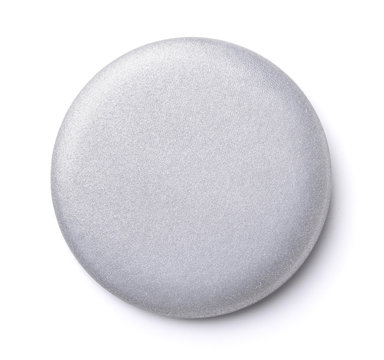 Blank silver button badge
