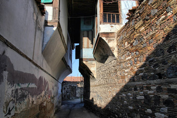 Famous Kula's homes. Kula is an old Anatolia town in Manisa, Turkey