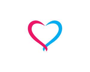 Love logo vector template illustration