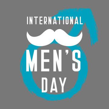 Men's Symbol for International Men's Day vector illustration for your design