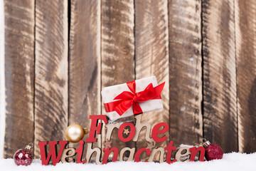 frohe weihnachten karte motiv