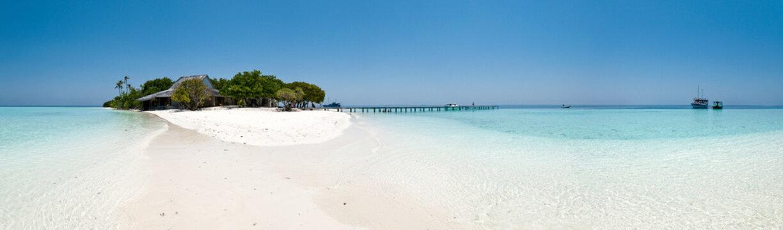 Maldives - Panorama de l'île d'Ambara