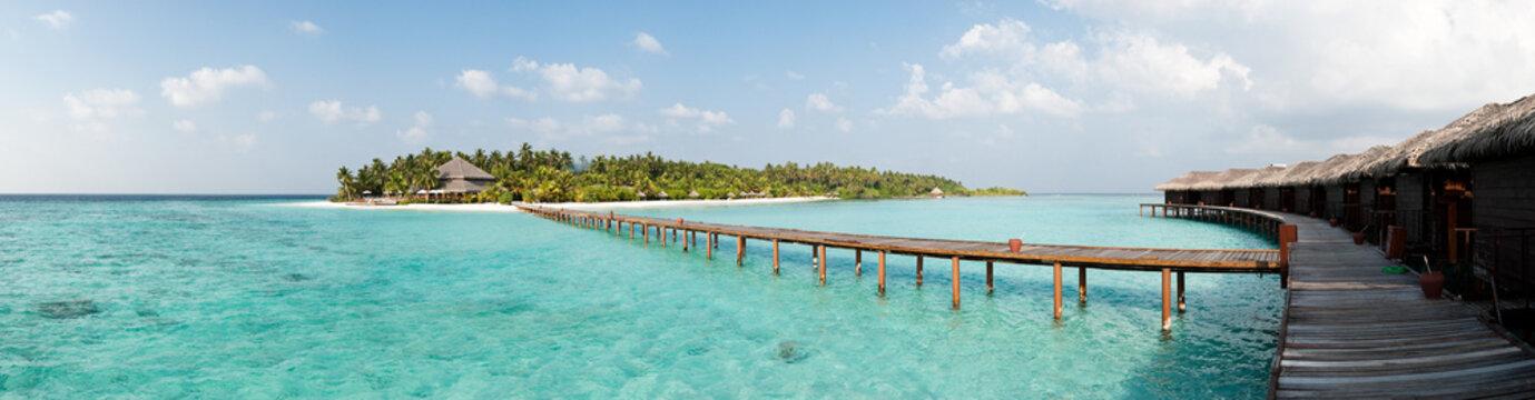 Maldives - Panorama de l'île de Filitheyo