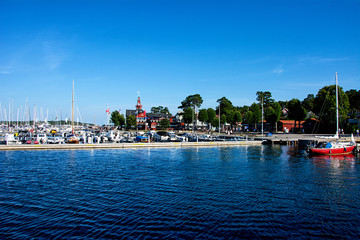 Marina on the island of Sandhamn