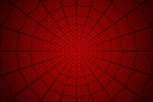 Spider web. Cobweb on Red background. Vector illustration
