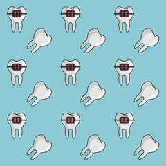 Dental braces background