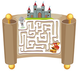 Knight maze puzzle game template