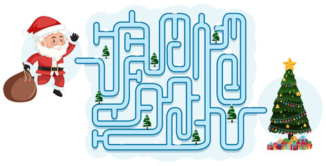 Christmas maze puzzle game template