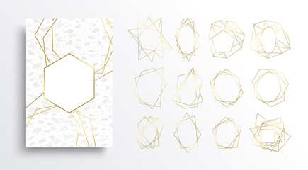 Gold and white luxury card background collection