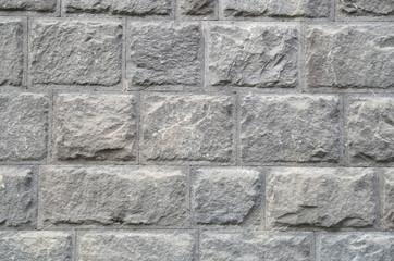 New wall of stone closeup