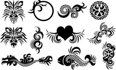 Tribal Tattoo Design Vector Set