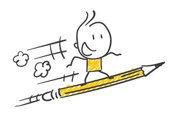 Strichfiguren / Strichmännchen: Starten, Stift. (Nr. 311)