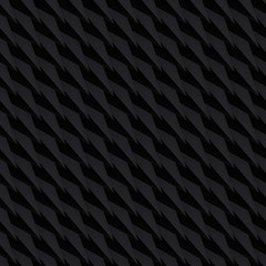 Volume realistic vector triangles texture, black geometric pattern, design dark background for you projects
