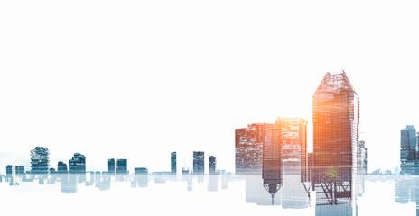 Modern cityscape background