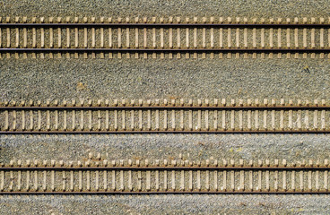 Wall Murals Railroad top aerial view of some railraod tracks texture isolated f