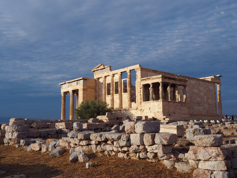 Akropolis in Athen - Athena Tempel