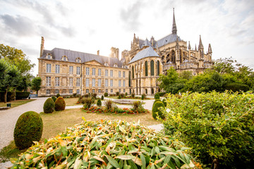 Gardens in Reims city, France