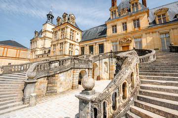 Fontainebleau with famous staircase in France Wall mural