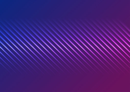 Blue ultraviolet neon laser glowing lines abstract background