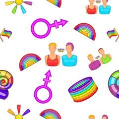 Sexual minorities pattern. Cartoon illustration of sexual minorities vector pattern for web
