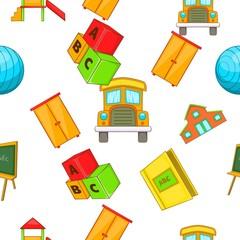 School pattern. Cartoon illustration of school vector pattern for web