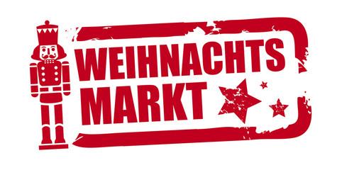 Stempel Weihnachtsmarkt - freigestellte Vektor Grafik