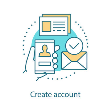 Account creating concept icon