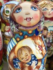 Fotobehang Carnaval girl with doll