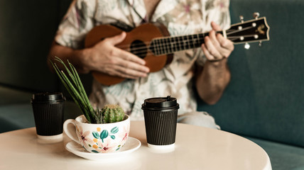 Take-away Coffee and Ukulele