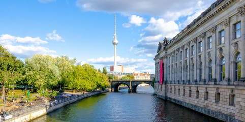 berlin skyline with bode museum