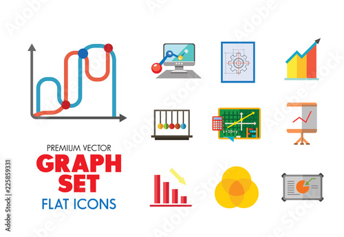 Marvelous Graph Icon Set Magnifier And Graph Growing Bar Chart Declining Bar Wiring Digital Resources Jonipongeslowmaporg