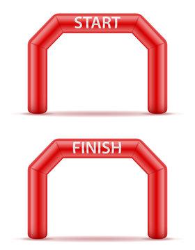 inflatable line start finish for sport vector illustration