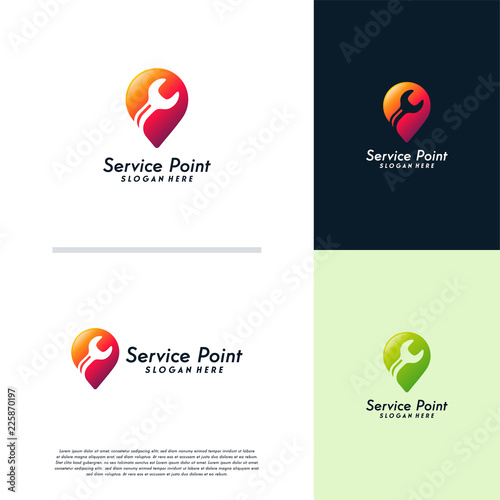 Service Point Logo Designs Template Fixing Concept