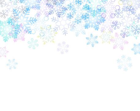 雪の結晶 背景イラスト