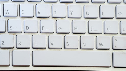 Wall Mural - close up keyboard top view
