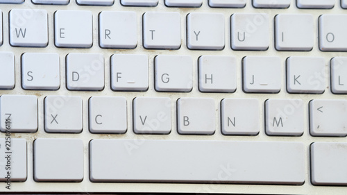 Sticker close up keyboard top view