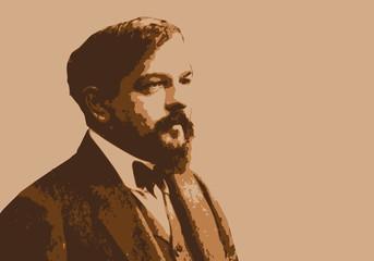 Portrait de Claude Debussy, célèbre musicien, compositeur français