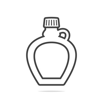 Maple syrup bottle line icon vector