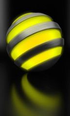 globe light yellow