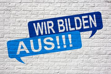 Wir bilden aus!!! - Jobsuche und Bewerbung Graffiti
