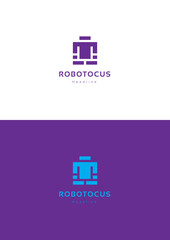 Robotocus logo template.