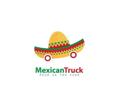 Mexican Truck food logo design