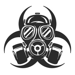 Gas Mask vector illustration. Respirator. Biological hazard